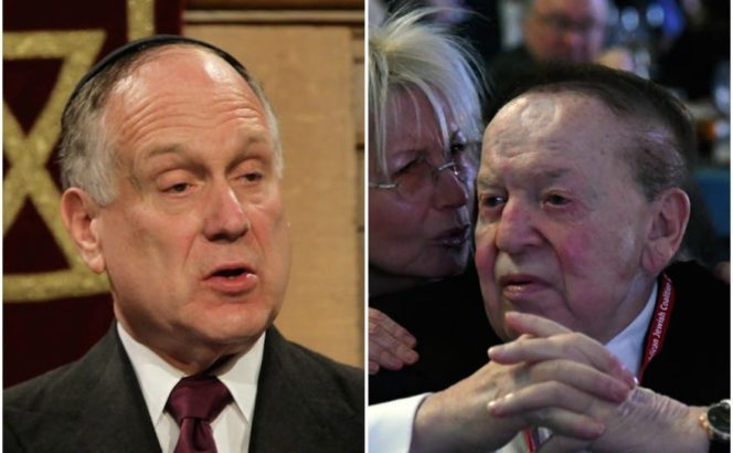 "JTA: ""Lauder vs. Adelson: Which Jewish billionaire has Trump's ear on Israel?"""