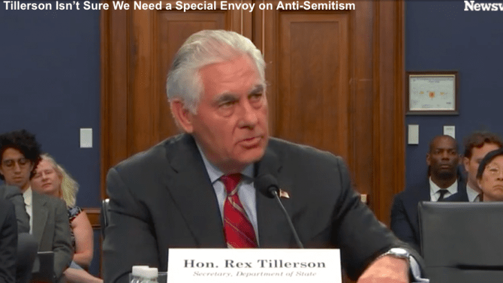 Tillerson questions need for anti-Semitism envoy