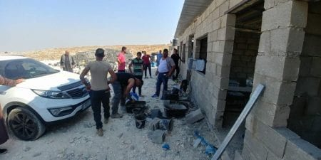 Palestinians Rebuild Demolished School East of Bethlehem