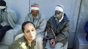 Israeli soldiers take 'selfie' with Injured Palestinian prisoners