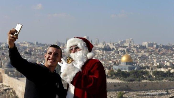 Santa Claus in Palestine