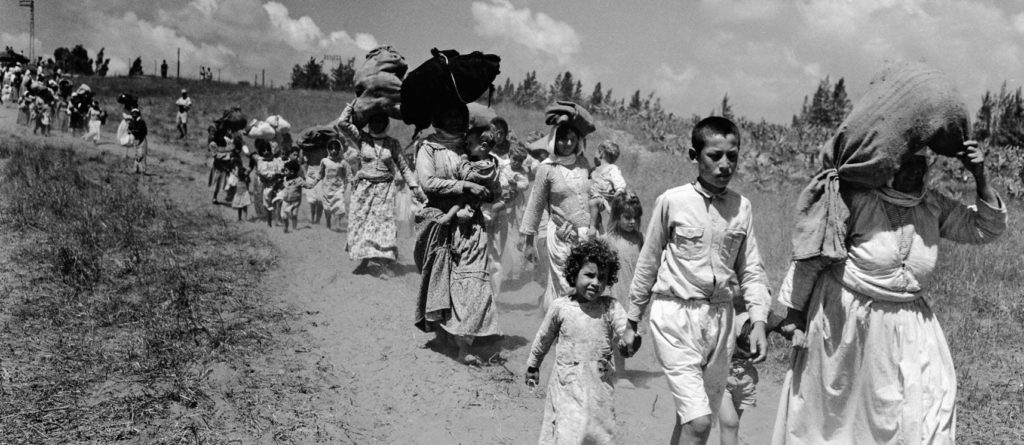 Palestinian refugees in 1948