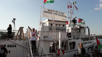 Gaza Freedom Flotilla Boat Boarded & Searched by German Coast Guard