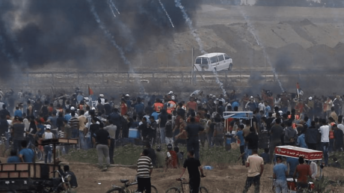 """Palestinian killed, 167 wounded in final """"March of Return"""" Gaza protest"""