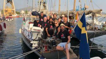 Freedom Flotilla leaves Palermo to break the illegal Israeli blockade of Gaza
