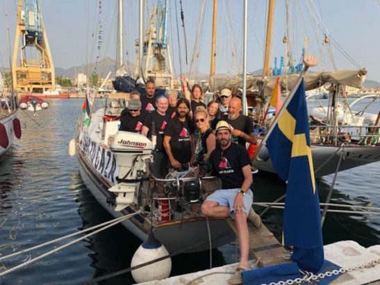 Freedom Flotilla leaves Palermo to break the illegal Israeli blockade of Gaza