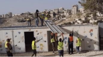 Israeli Soldiers Demolish A Kindergarten And A Women's Center Near Jerusalem