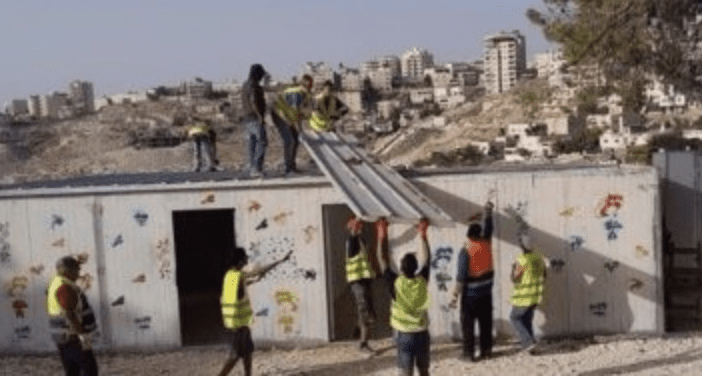 Israeli Soldiers Demolish A Kindergarten And A Women's Center Near Jerusalem