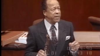 Watch: Congressman Gus Savage exposes the Israel Lobby's illicit tactics