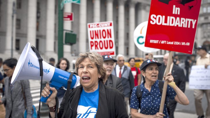 While teachers care about schools & salaries, teachers union head Randi Weingarten positions the union to support Israel
