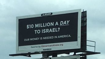 Ohio billboard tells Americans about aid to Israel