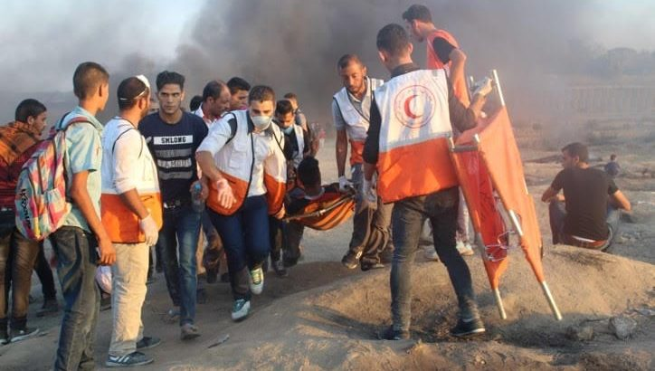 Israeli forces kill 7 civilians in Gaza, including 2 teens, injure 224