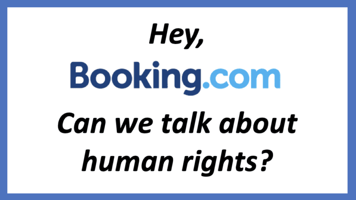 Action Alert: tell Booking.com to follow Airbnb in de-listing Israeli settlement properties