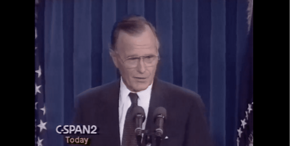 When George Bush, Sr  took on the Israel lobby, and paid for it