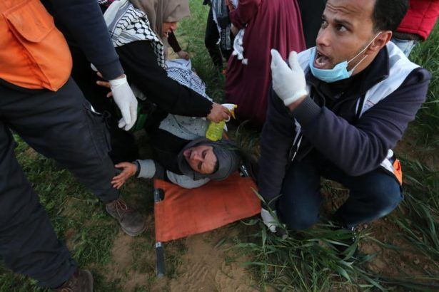 Israeli snipers kill Palestinian woman, target medics, injure 25 with live fire, tear gas