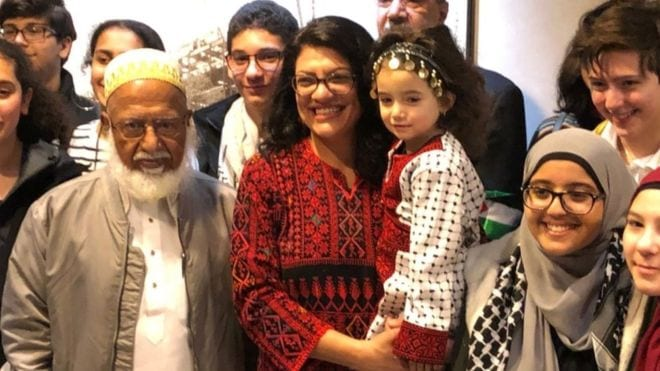 As Rashida Tlaib Is Sworn In, Palestinian-Americans Respond With #TweetYourThobe