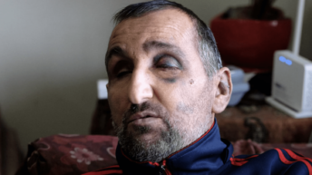 Without Saying a Word, Israeli Troops Beat Up a Blind Man in His Bed