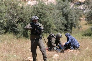 Bound and blindfolded Palestinian teen shot by Israeli soldiers