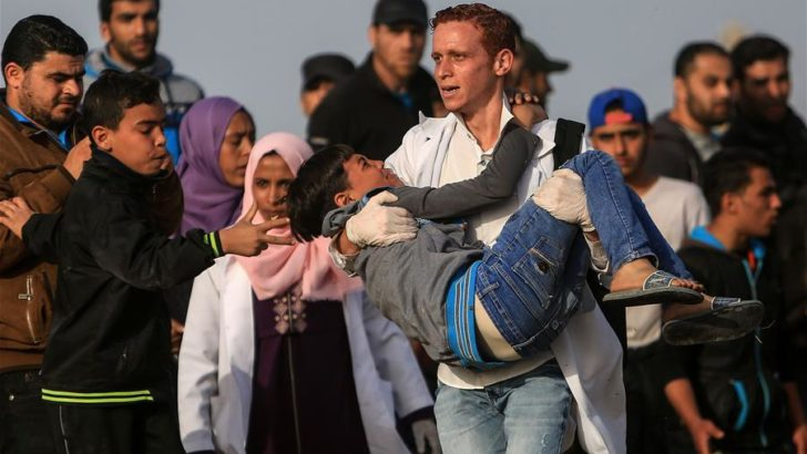 Israeli forces injure 110 civilians in Gaza, including 37 children