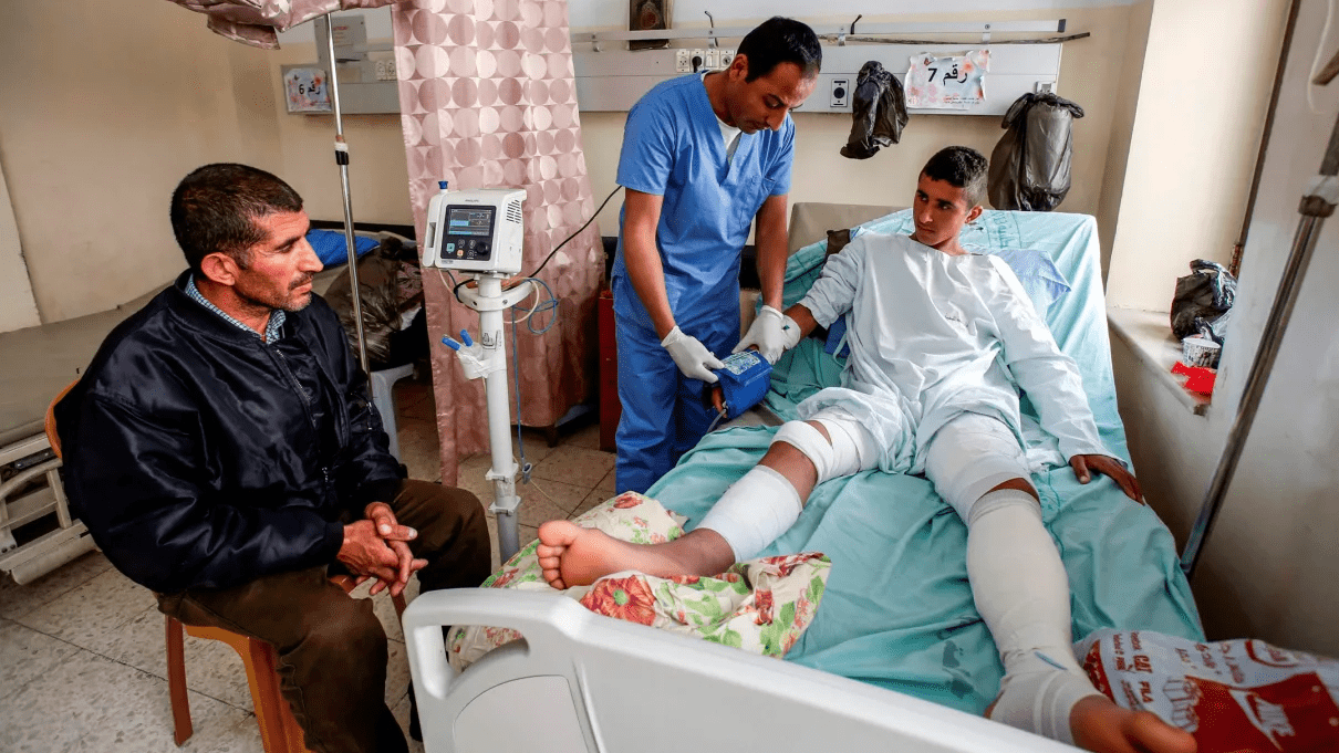 Osama Hajajeh in hospital