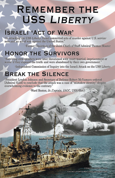 poster about USS Liberty, attacked by Israel