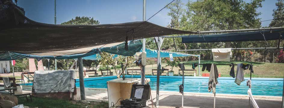 Community pool near Gaza