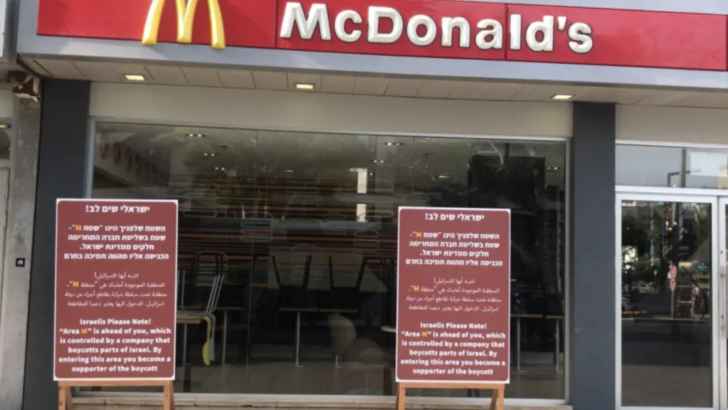 The irony of a McDonald's boycott in Tel Aviv