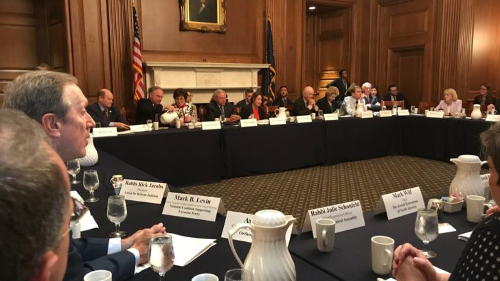 US Senators meet with Jewish leaders in semi-secret annual event