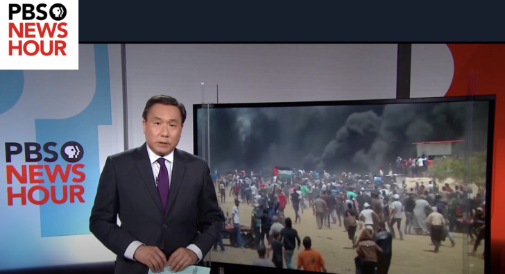 PBS adds pro-Israel headline to its own report on Israeli attacks in Gaza
