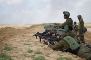 Israeli snipers at Gaza border.