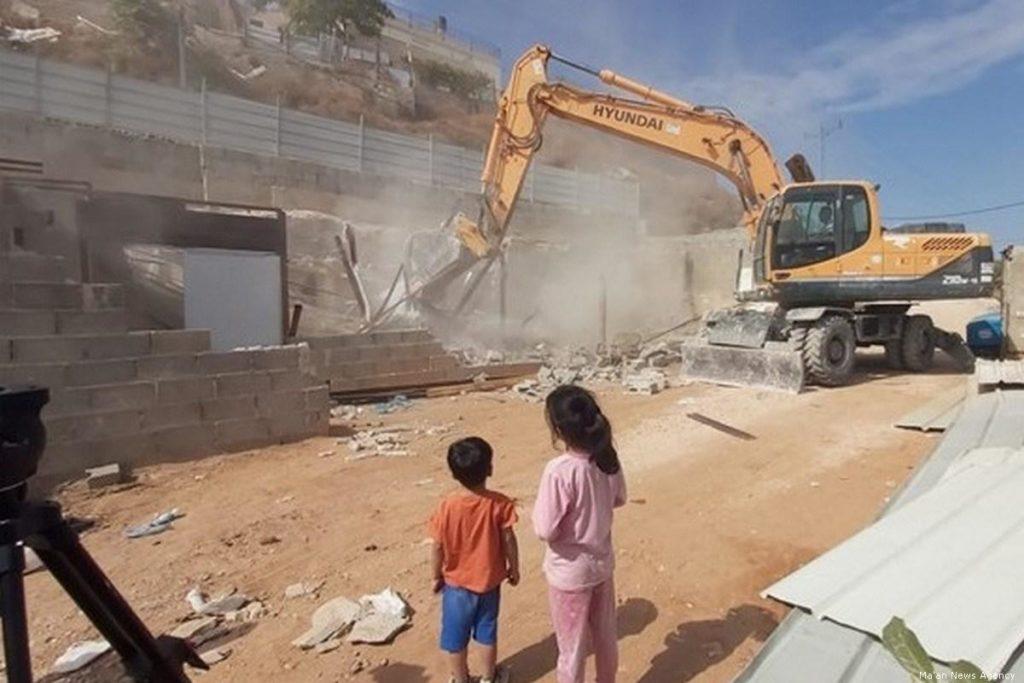 Israeli bulldozer destroys Palestinian home