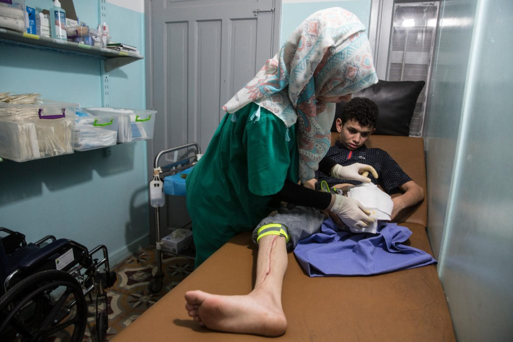Photo of Abdullah al-Angar a 13 year old Palestinian boy in Gaza