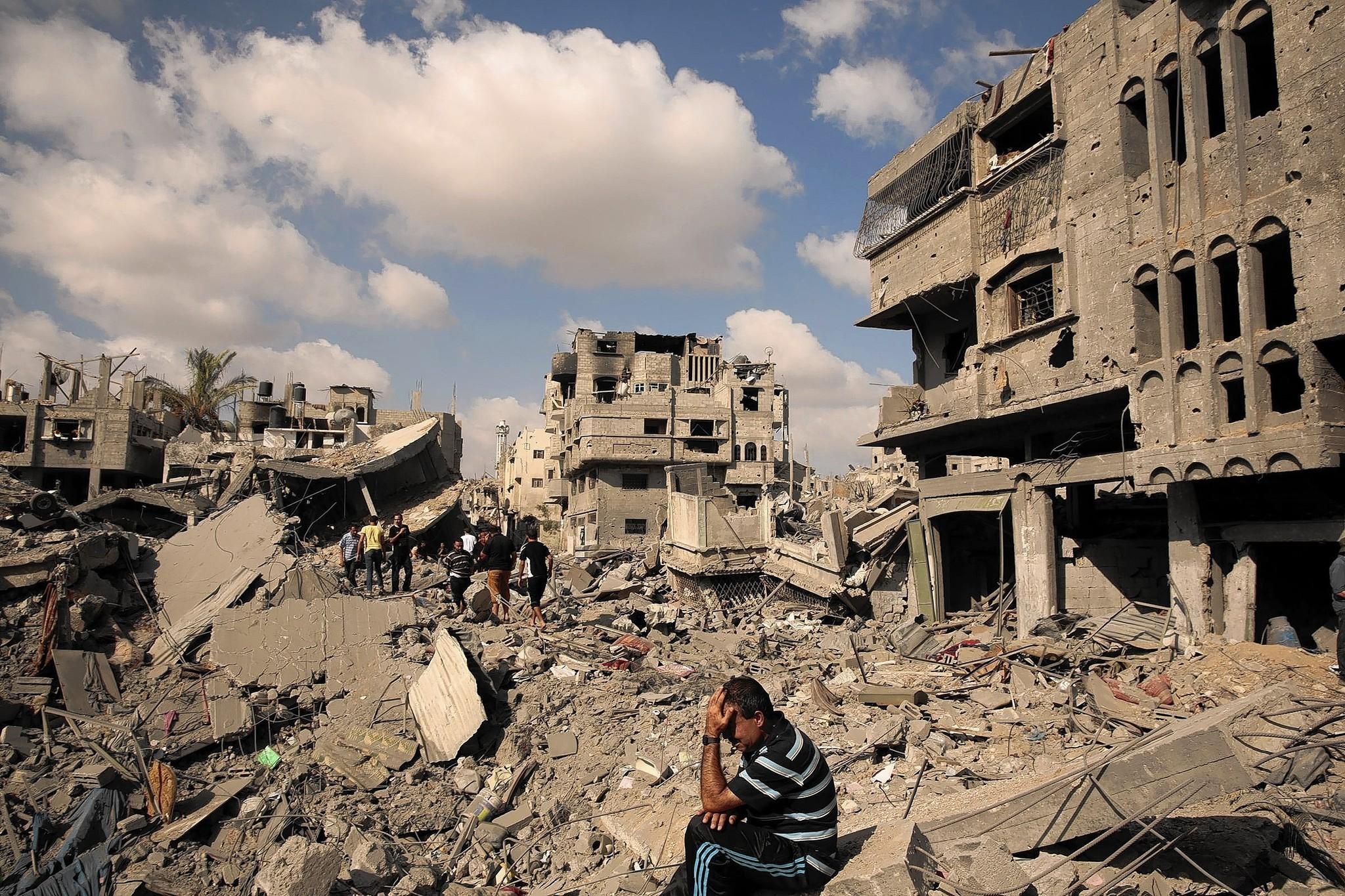 Destruction in Gaza City