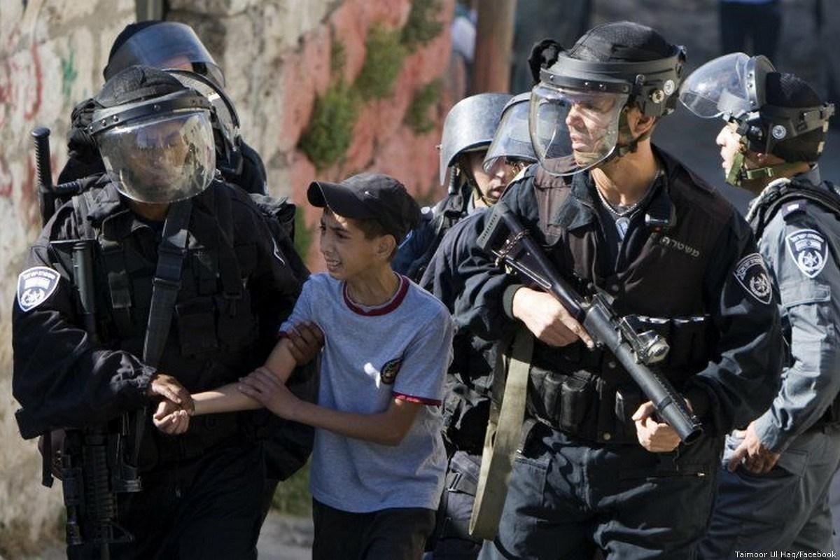 Photo of Israeli forces taking boy