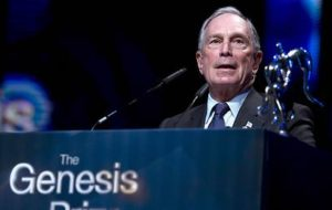 michael bloomberg receives genesis prize