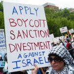 demonstration calling for boycott of israel