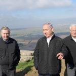 graham, netanyahu, friedman tour golan heights