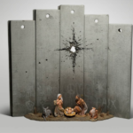 A manger scene juxtaposed against concrete blocks seemingly pierced by a mortar shell: with Christmas looming, Banksy reveals his latest art piece.
