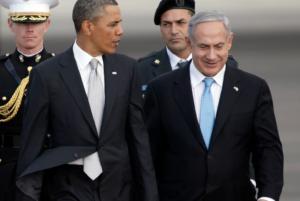 obama and netanyahu walk
