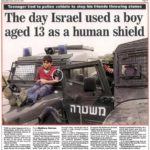 2004 story documents earlier use of Palestinian child as human shield.