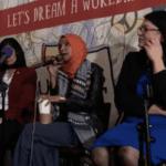 """Screen grab from video of """"Progressive Issues Town Hall,"""" Feb. 27 2019, featuring Reps. Ilhan Omar (c), Rashida Tlaib (r), and Pramila Jayapal"""