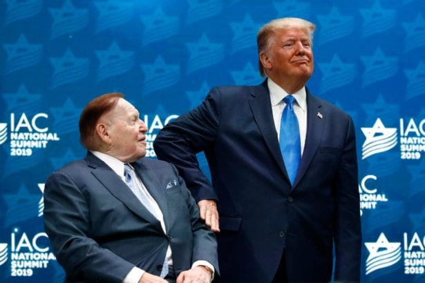 Adelson to donate $100 million to Trump & Repubs, fundraisers say
