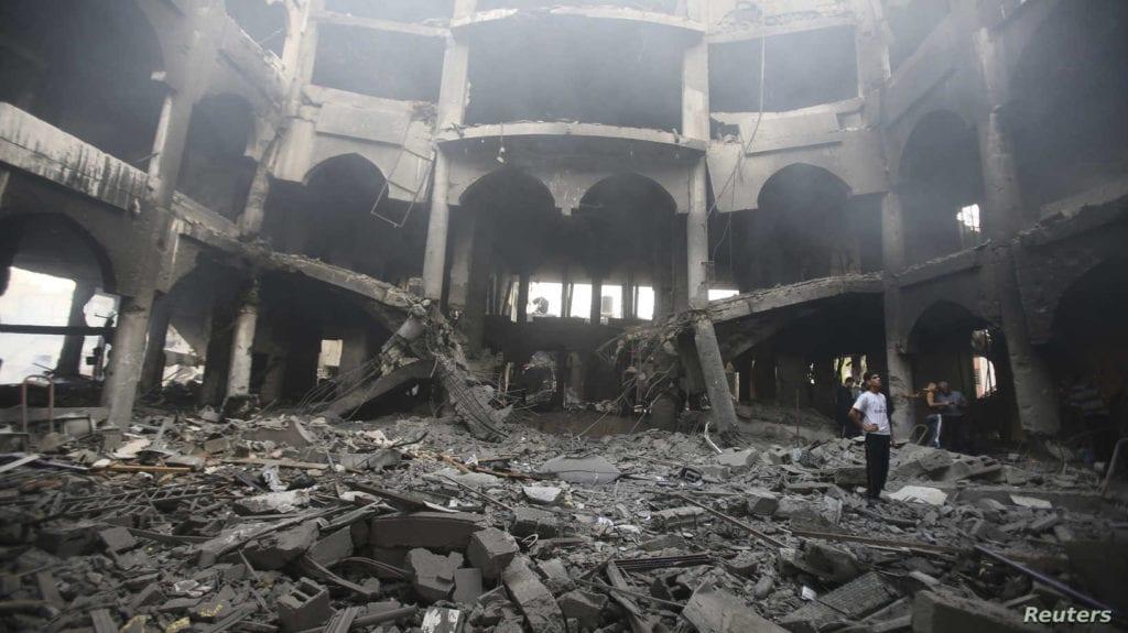Gaza in ruins after Israeli airstrike