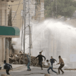 Israeli forces sprayed skunk water on children, homes and streets in the Qitoun neighbourhood of Hebron on two school days in the first week of November, 2015.