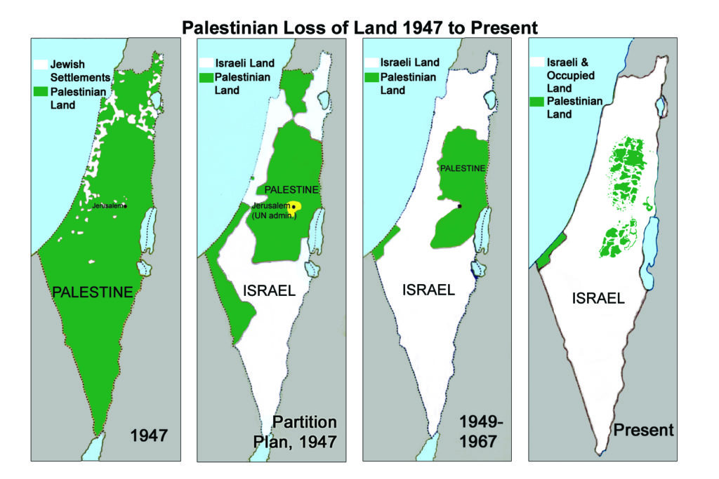 Maps of Palestine from 1947 to present