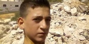 Mohammed Hamayel, 15, killed by an Israeli sniper on March 11, 2020.