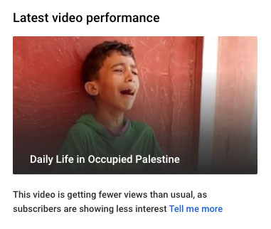 YouTube reports poor performance after censoring our video