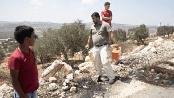 Israel military plants booby trap explosives near Palestinian village