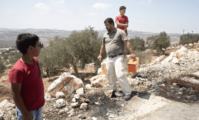 Israel military plants booby trap explosives near Palestinian village
