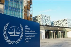 Permanent premises of the International Criminal Court in The Hague, the Netherlands.